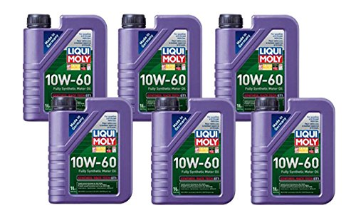Liqui-Moly Synthoil Race Tech GT1 10W-60 Motor Oil (1 Liter) - 6 Pack (Moly 60)