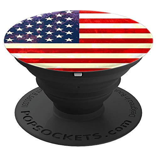 American Flag Ring For Men Boys Rustic USA Team Patriot Gift - PopSockets Grip and Stand for Phones and Tablets American Pearl Com Black Ring