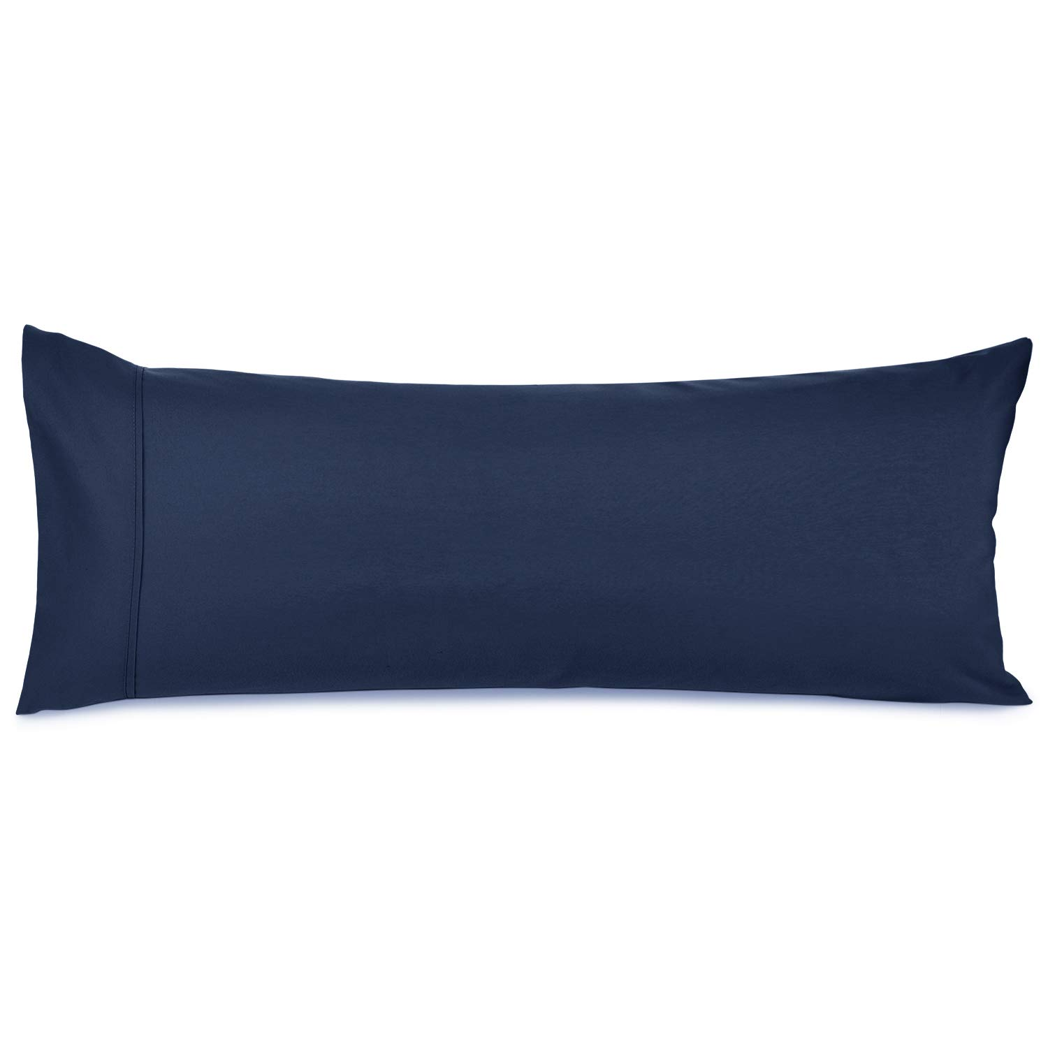 """Nestl Bedding Body Pillow Case - Double Brushed Microfiber Hypoallergenic Pillow Covers - 1800 Series Premium Bed Pillow Cases, 20""""x54"""" - Navy"""