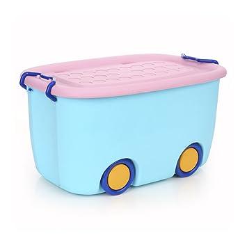 Caja de almacenamiento de juguetes para niños Coche de dibujos animados azul de dibujos animados para