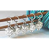 Set of 5 Sheep Stitch Markers for Knitting