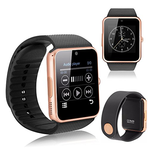 YEMON Smart Watches Bluetooth with Camera Compatible with Iphone Android That Can Text Rose Gold / Silver / Grey (Rose Gold)