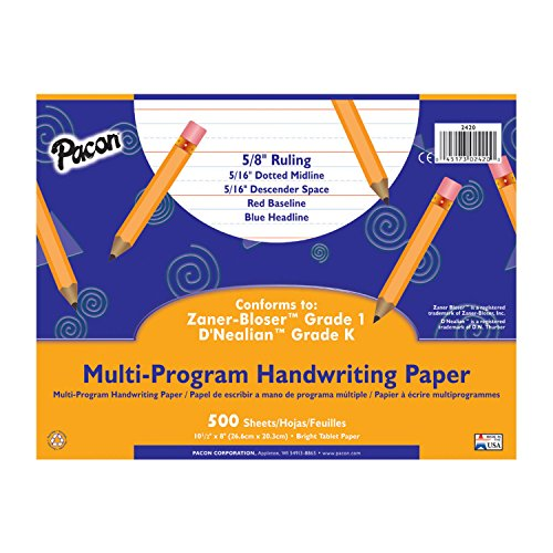 - Pacon Multi-Program Handwriting Paper, 10 1/2