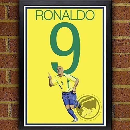 Ronaldo Poster - Brazil Soccer Art