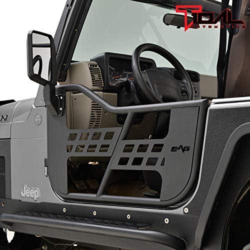 Puertas tubulares de acero Safari con espejos reflectantes para Jeep Wrangler TJ 97-06