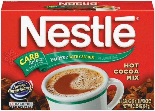 Nestle Hot Cocoa Fat Free Rich Milk Chocolate, 8 ct