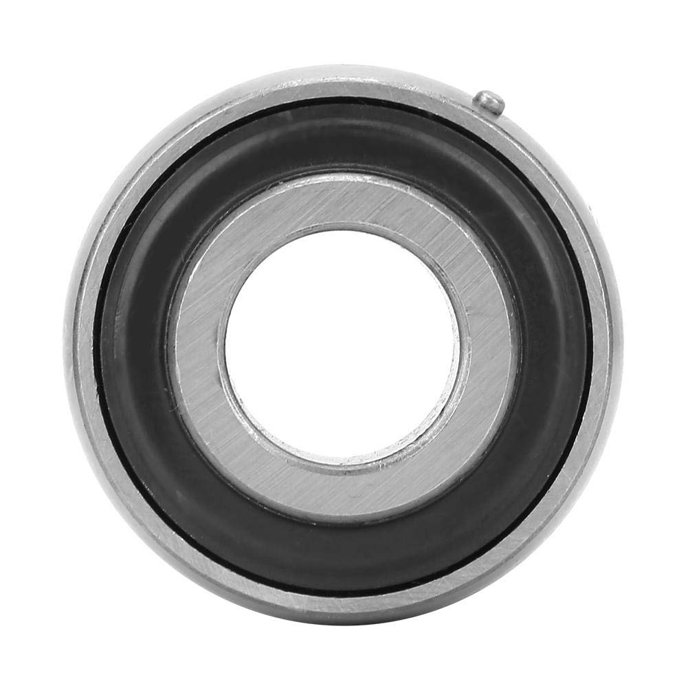 UC207-22 2Pcs Ball Bearing Steel Insert Bearing 35x72x42.9mm//1.38x2.83x1.69in Eccentric Collar Double Sealed Regreasable Spherical Bearings Insert Bearing Machinery Tool Accessories