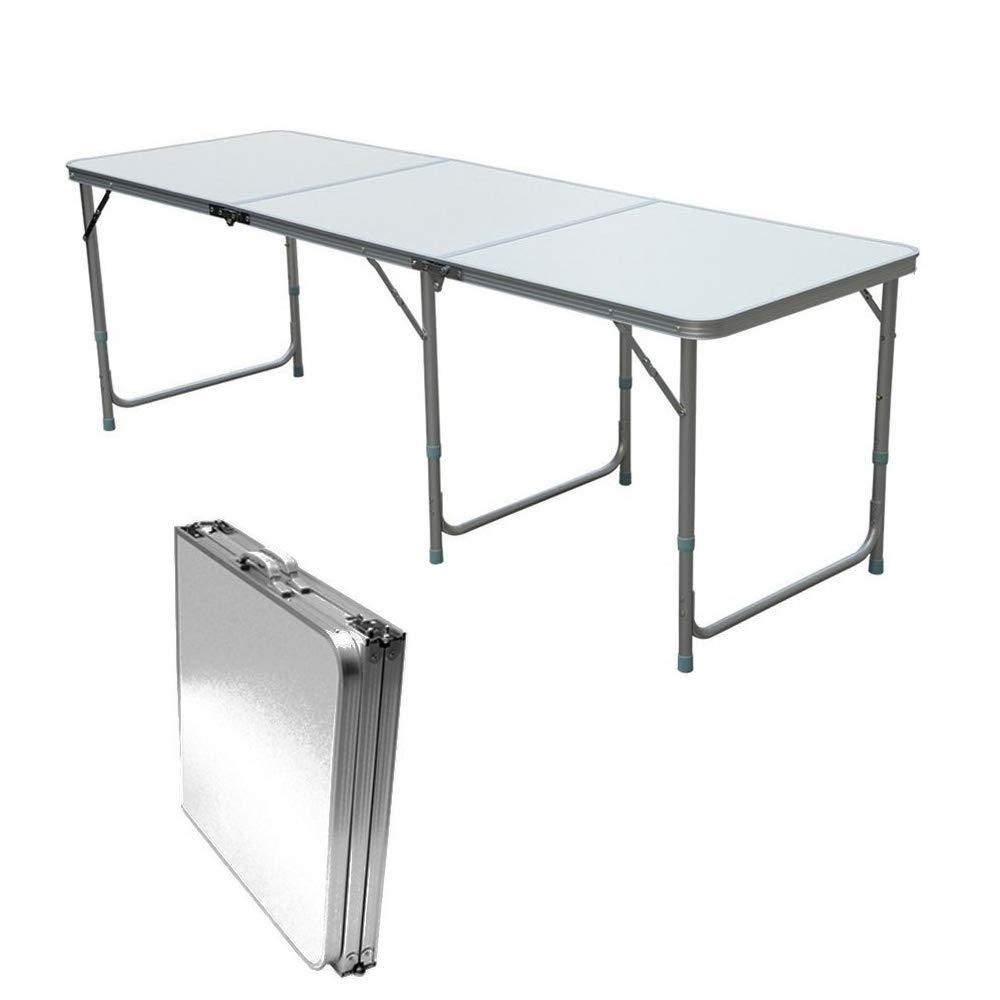 QITAO® 6ft Aluminium Klapptisch Kofferraum Stall Buffet/Hochzeit/Garten/Street Party in/out Tür/Markt/Fete/Fair versenkbarer