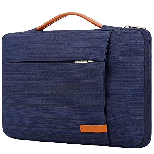 (Lacdo 360° Protective Laptop Sleeve Case Briefcase Bag Compatible 15
