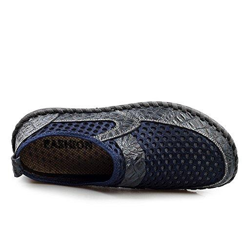 Flats Mocassins Chaussures Synthétique On Slip Bleu Foncé Shoes Homme AgeeMi TRAnxFHR