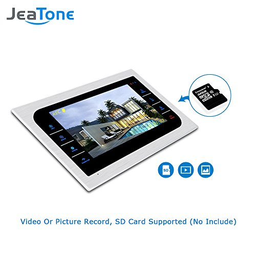 JeaTone 10 Inch TFT Wired Video Door Phone Intercom Security Camera Doorbell Home Security Camera System 32GB SD Card Video Record Monitor Door Video Camera Best Selling by Jeatone (Image #5)