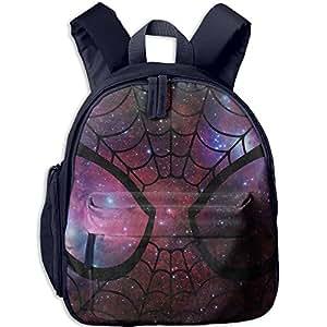 "Halloween Spider Kid Child Bright School Bag Bookbag Lightweight Summer Camp Shoulders Bag Backpacks 12.5"" Height"