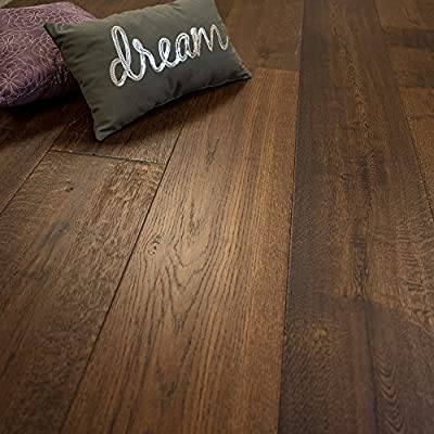 """Super Wide Plank 10 1/4"""" x 5/8"""" European French Oak (Matterhorn) Prefinished Engineered Wood Flooring Sample at Discount Prices by Hurst Hardwoods"""