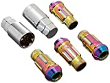 Muteki 32901N Neon Chrome 12mm x 1.25mm SR48 Open End Locking Lug Nut Set