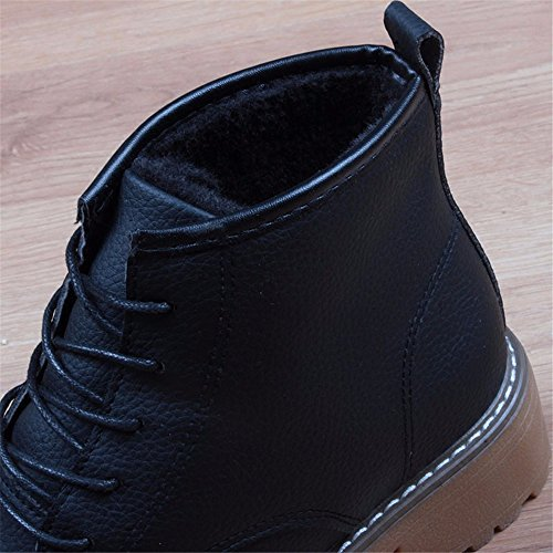 Boots Shoes Thick Boots HXVU56546 Shoes New Martin Black Snow Waterproof Velvet Cotton Plus Winter qw7nHYnxaA