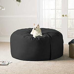 Jaxx 5 Foot Saxx - Big Bean Bag Chair for Adults, Black