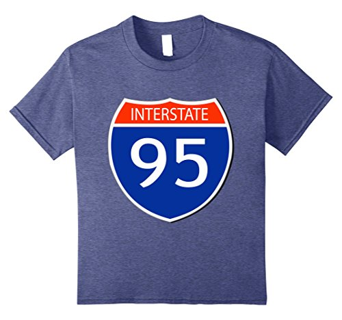 Twin Toddler Halloween Costumes (Kids Interstate 95 I-95 Sign Easy Halloween Costume T-Shirt 8 Heather Blue)