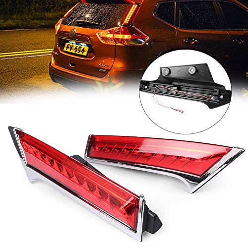 GZYF Pair Auto Rear Window LED Brake Light Warning Lamp Custom Fits Nissan Rogue X-Trail 2014-2018 ()