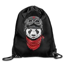 Cool Panda Captain Men & Women Sport Gym Sack Lightweight Drawstring Backpack