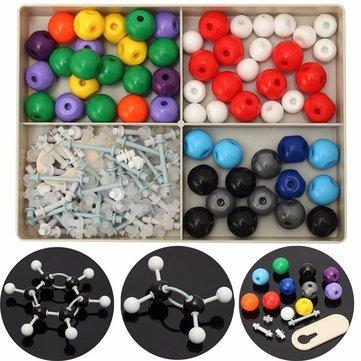 Molecule Exemplar Outfit - 240pcs Atom Molecular Model Kit Set Organic Chemistry Scientific - Trial Mote Pattern Empirical Mannikin Simulation Manikin Role Experimental Exemplary