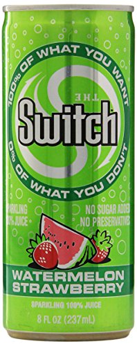 The Switch Sparkling Juice, Watermelon Strawberry, 8-Ounce Cans (Pack of 24)