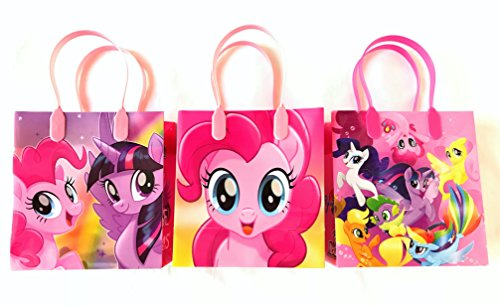 My Little Pony Character 12 Premium Quality Party Favor Reusable Goodie Small Gift Bags ()