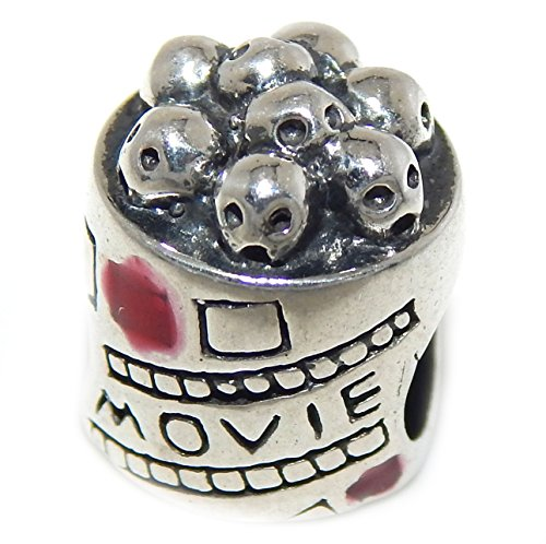 925 Solid Sterling Silver 'Movie' Popcorn Charm Bead (Fit Popcorn Real Butter compare prices)
