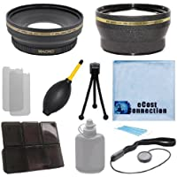 Pro Series 67mm 0.43x Wide Angle Lens + 2.0x Telephoto Lens with Deluxe Lens Accessories Kit for Sony NEX-VG10 Interchangeable Lens , NEX-VG20 Interchangeable Lens , NEX-VG20H Interchangeable