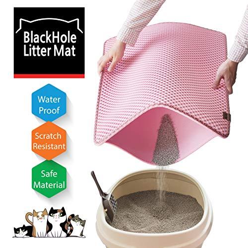 "Blackhole Cat Litter Mat - Large Size Rectangular 30"" X 23"" (Pink)"
