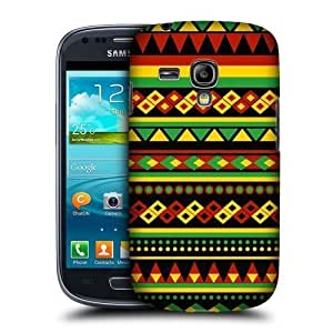 AIYAYA Samsung Case Designs Aztec Rasta Colour Patterns Protective Snap-on Hard Back Case Cover for Samsung Galaxy S3 III mini I8190