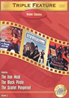 Drama Classics Triple Feature Vol 2 The Black Pirate The Scarlet Pimpernel 1934 The Iron Mask by Rph Productions