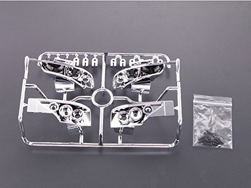 - Fosheng RC Body Nissan S15 Silver Plating Light Buckets for 1/10 RC On Road Drift Cars
