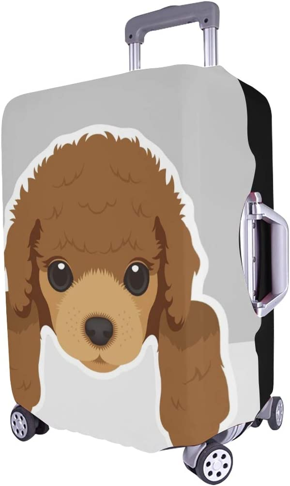 Portrait Poodle Puppy Dog Spandex Trolley Case Travel Luggage Protector Suitcase Cover 28.5 X 20.5 Inch