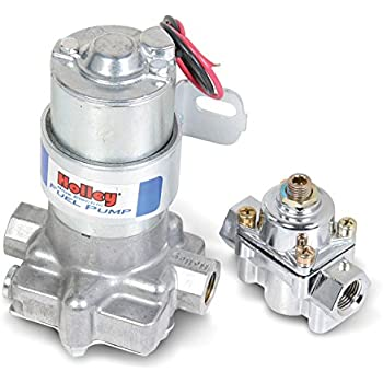 amazon com msd 2225 high pressure electric fuel pump 43 gph holley l 12 802 1 electric fuel pump regulator 110 gph