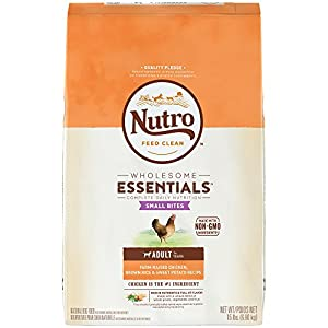 NUTRO WHOLESOME ESSENTIALS  Small Bites Adult Farm-Raised Chicken, Brown Rice & Sweet Potato Recipe 15 Pounds
