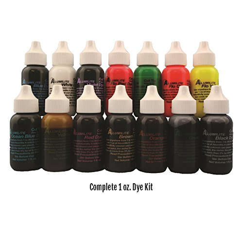 14 Alumilite 1oz Pigments (complete set with Ocean Blue) for Colored Casting