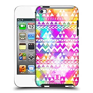Head Case Designs Colourful Bash Watercoloured Tribal Patterns Protective Snap-on Hard Back Case Cover for Apple iPod Touch 4G 4th Gen