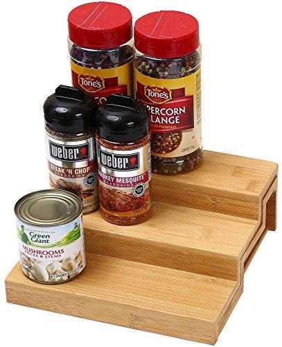 """Ybm Home & Kitchen 3 Tier Spice Rack Step Shelf Organizer Size 10.5""""L x 8.70""""W x 3.5""""H #334"""
