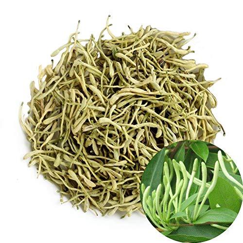 TooGet Natural Honey Suckle Herbs Wild Honeysuckle Flower Buds, Dried Lonicera Japonica Loose Tea, Herbal Tea, Top Grade - 4 OZ (Herbs Flowers Dried)