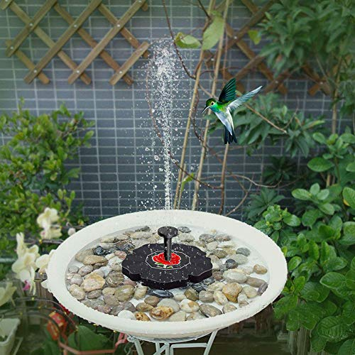 loinhgeo-Exquisite Durable Vintage Rose Solar Powered Outdoor Float Fountain Water Pump Bird Bath Garden Decor