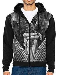 Enslaved Angel Man 3D Print Hip Hop Pullover with Kangaroo Pocket Zipper Jackets