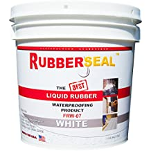 Rubberseal Liquid Rubber Waterproofing and Protective Coating -- Roll On WHITE (1 Gallon)