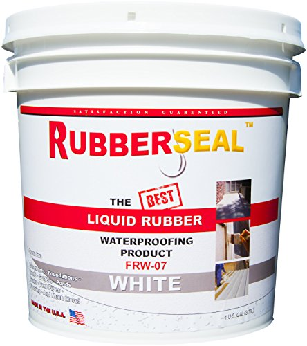 (Rubberseal Liquid Rubber Waterproofing and Protective Coating - Roll On White (1 Gallon, White))