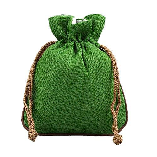 Chocolate Thank You Coins (Lilith li Solid Color Cotton Linen Sachet Bag Sachet Jewelry Bag 12 pcs / bag)