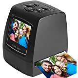 Digital Film Negative Scanner High Resolution Slide Viewer, Converts 35mm Film Negatives & Slides to Digital Photos, 2.36 inch TFT LCD Screen, Support SD Card, Easy-Load Film Inserts, Adapters & More