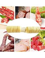 Lotuny Sausage Casings Skins Natural Hog- Sausage Casing Ham Sausage Collagen Casing Roasted, 14x20mm