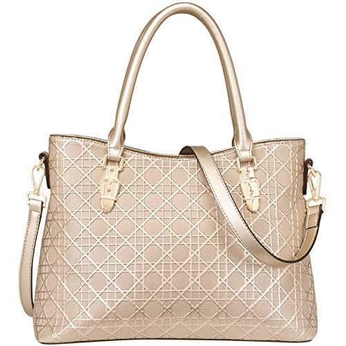 Fashion Embossed Bag Bags Bags New Women's Leather Gold Shoulder Handbags vnYqYAd0