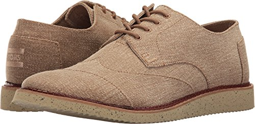 5d0538ac00f TOMS Men s Brogue Lace-Up Desert Taupe Coated Twill Shoe - Buy Online in  Oman.
