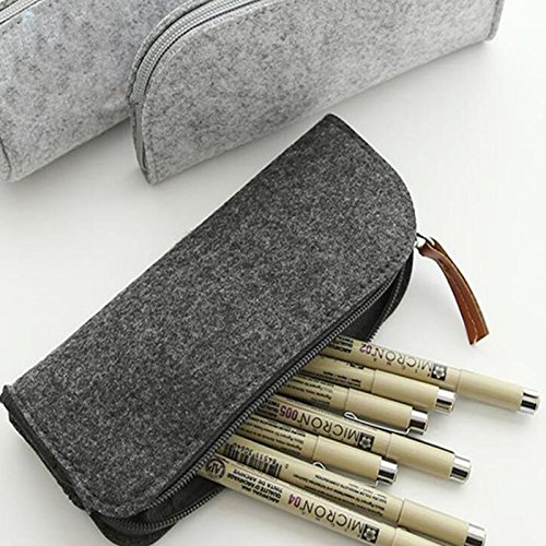 Gulin Multifunktionale Filzstift Tasche Stift Gläser Kosmetik Make-Up Aufbewahrungskoffer Reißverschluss Beutel Schreibwaren Schulbedarf
