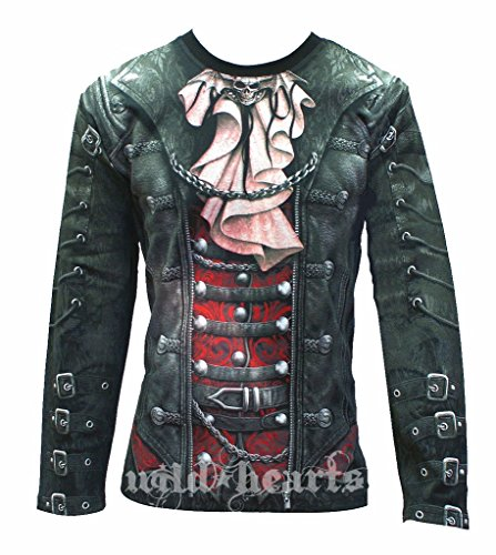 GOTHIQUE WRAP Men's Long Sleeve Jersey All Over Printed Garment (Large) (Steampunk Clothing Men)